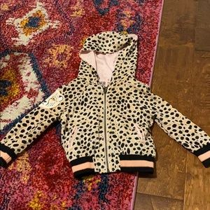 Oshkosh toddler girls cheetah bomber jacket 18m